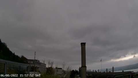 La webcam montre le ciel de Horgen dans la direction Zurich
