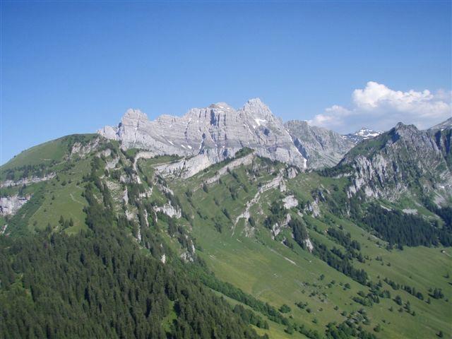 Blick in Richtung Mürtschenstock ob Mollis (GL)