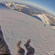 Start auf dem Jungfraujoch. Pilot: Dino Pavic.