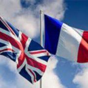 Flaggen von Grossbritannien und Frankreich